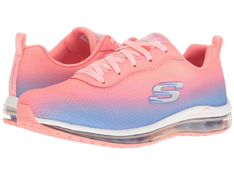 SKECHERS - Ombre Mesh Lace-Up w/ Air Cool (Pink/Blue) Womens Shoes