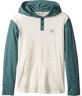 O'Neill Kids - The Bay Hooded Knit Henley Top (Big Kids)