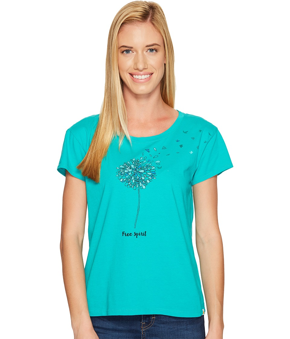 Life is good Free Spirit Breezy Tee (Bright Teal) Women