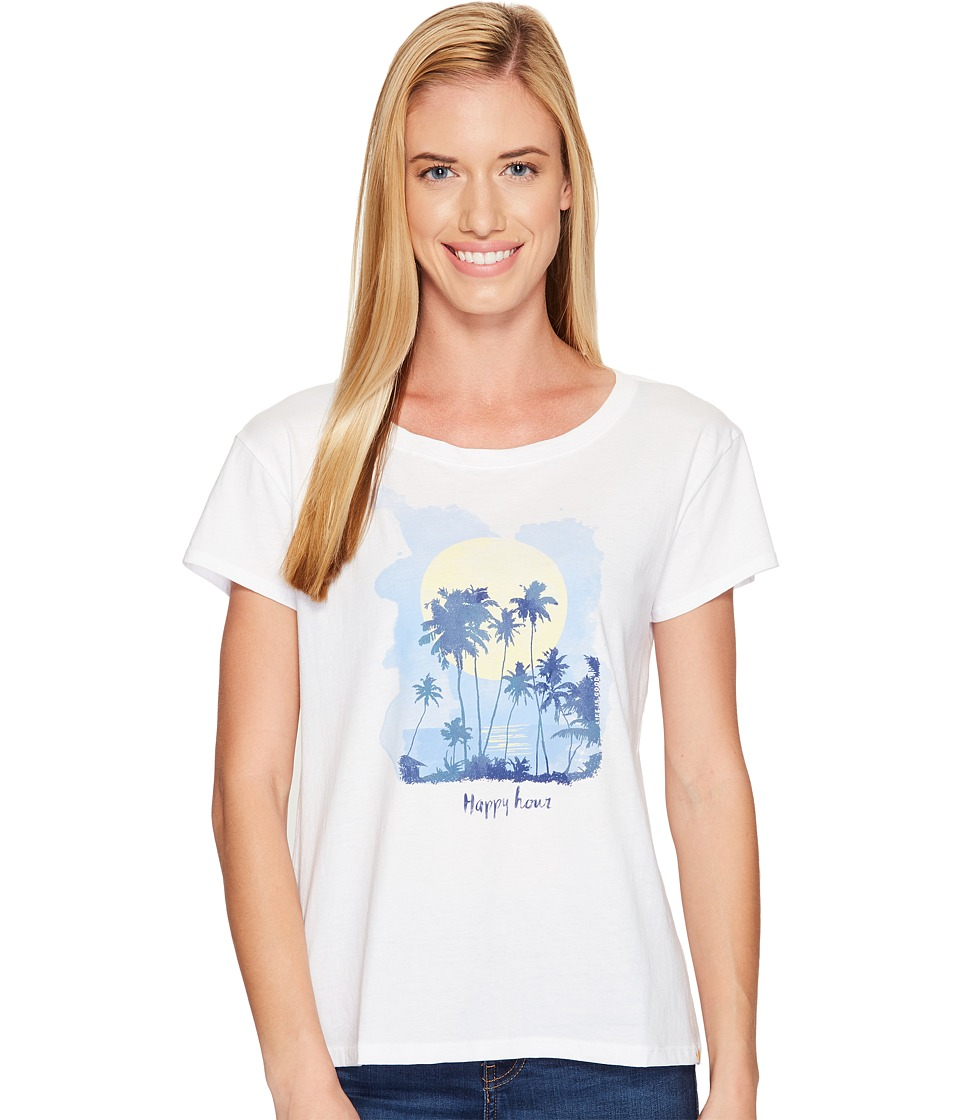 Life is good Happy Hour Breezy Tee (Cloud White) Women