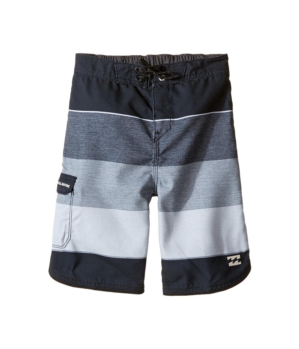 Billabong Kids 73 OG Stripe Boardshorts (Toddler/Little Kids) (Black) Boy