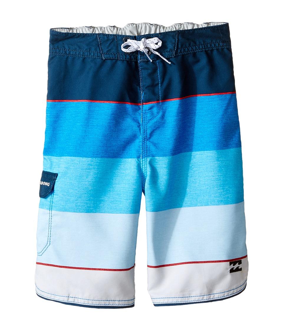 Billabong Kids 73 OG Stripe Boardshorts (Toddler/Little Kids) (Blue) Boy