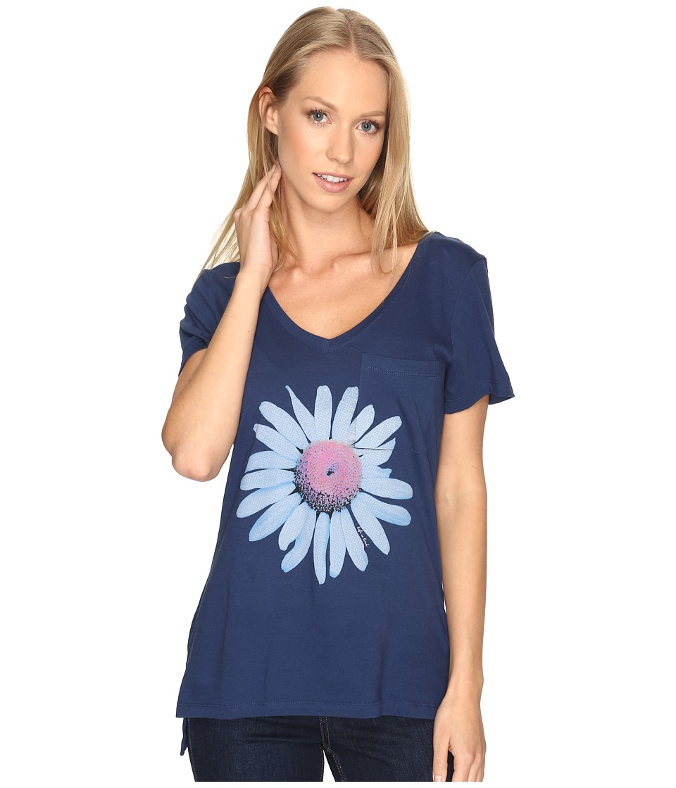 Life is good Daisy Pocket Vibe Tee (Darkest Blue) Women