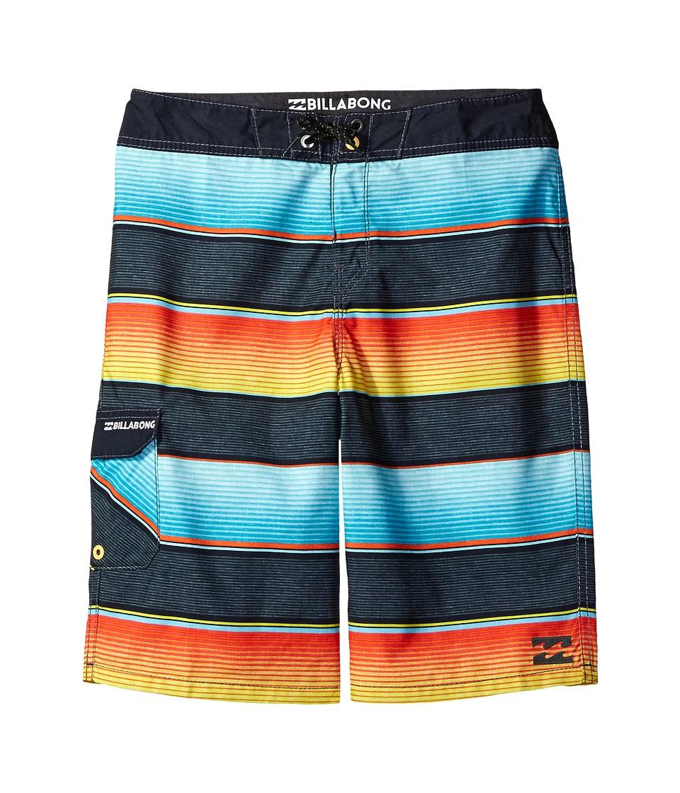 Billabong Kids All Day OG Stripe Boardshorts (Big Kids) (Lime) Boy
