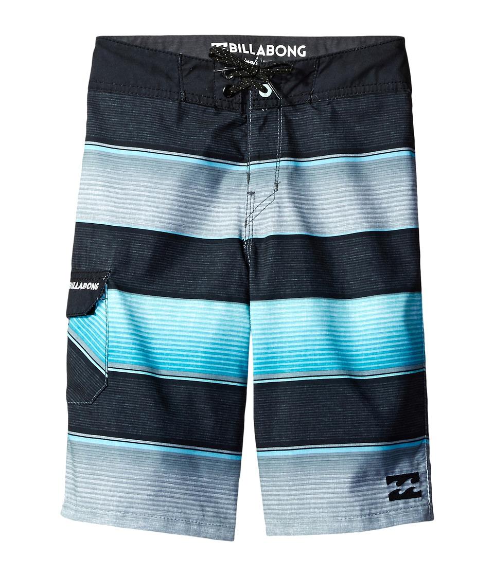 Billabong Kids All Day OG Stripe Boardshorts (Big Kids) (Mint) Boy