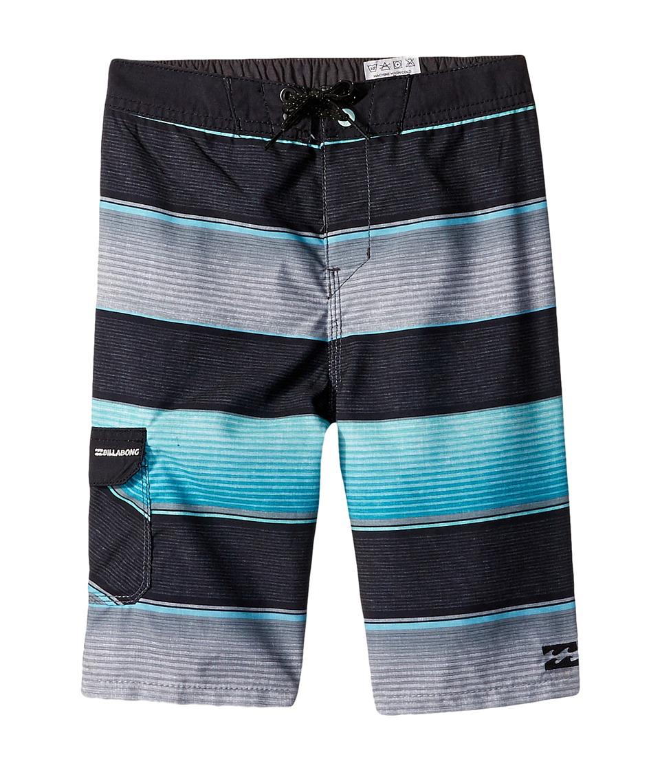 Billabong Kids All Day OG Stripe Boardshorts (Toddler/Little Kids) (Mint) Boy