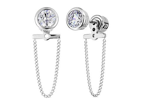 Michael Kors Brilliance CZ Stud Chain Earrings