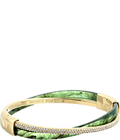 Michael Kors - Autumn Luxe Acetate and Stainless Cross Hinged Bangle Bracelet