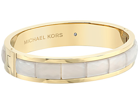 Michael Kors Faceted Acetate Hinged Bangle - Gold