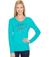 Life is good - Daisy Long Sleeve Hooded Smooth Tee