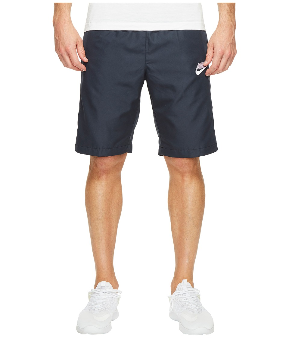 Nike Woven Season Short (Dark Obsidian/White/White) Men