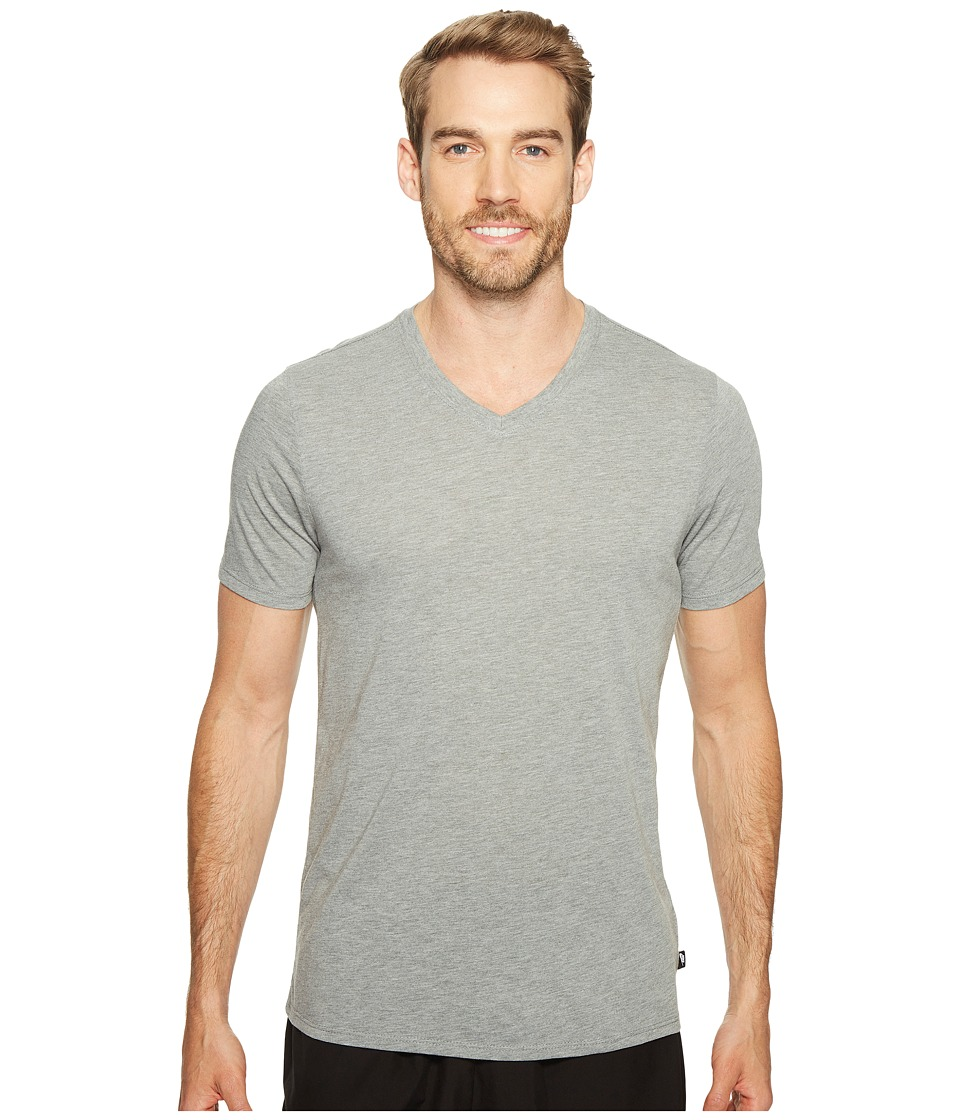 Nike Solid Futura V-Neck Tee (Carbon Heather/Black) Men