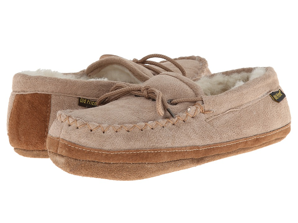 Old Friend - Soft Sole Moc (Chestnut W/Natural Fleece) Womens Shoes
