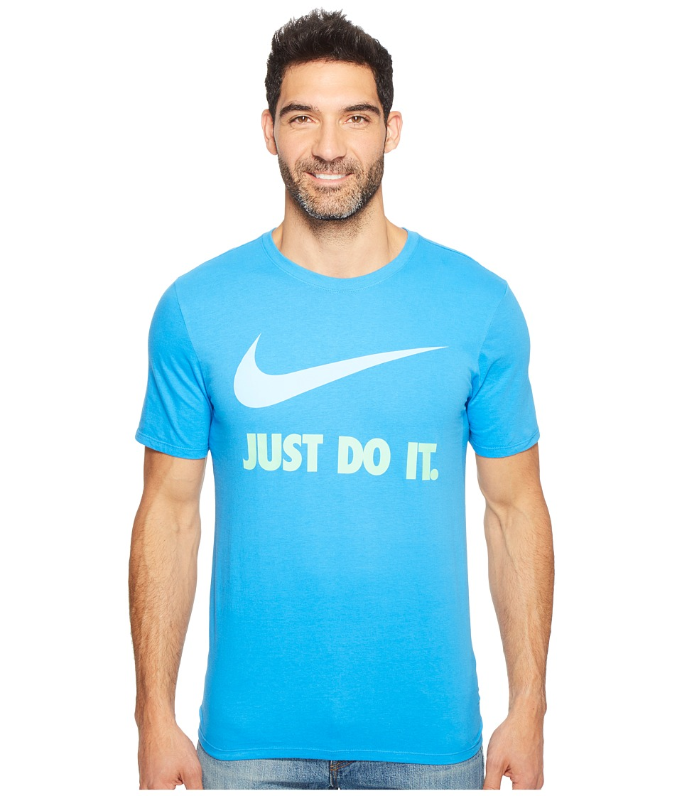 Nike Just Do Ittm Swooshtm Tee (Light Photo Blue/Aluminum) Men