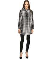 Kate Spade New York - Double Breasted Check Peacoat