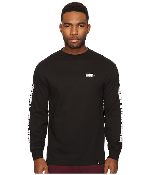 HUF Spike Downhill Long Sleeve Tee - Black
