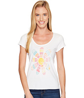 Life is Good - Daisy Patchwork Smooth Tee