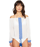 Vitamin A Swimwear - Capri Cropped Peasant Top Cover-Up
