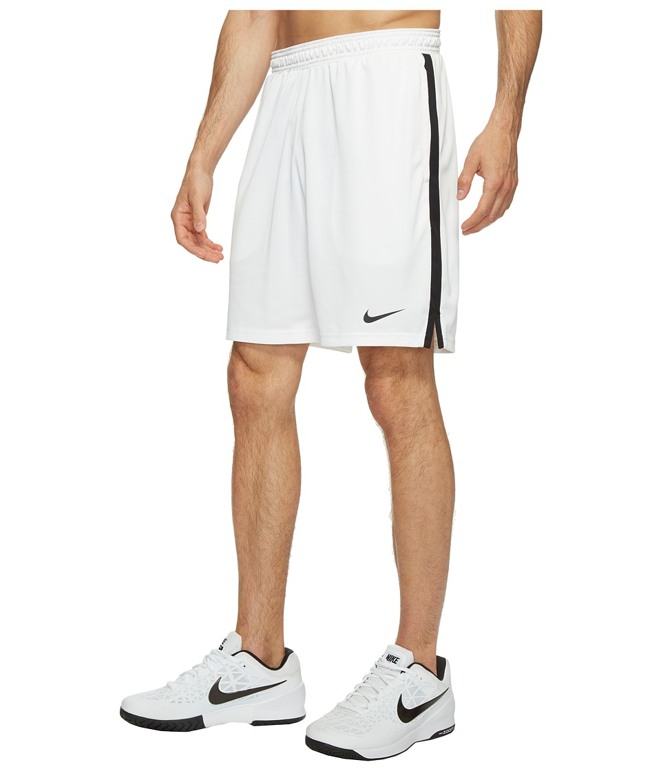 Nike Court Dry 9 Tennis Short (White/Black) Men