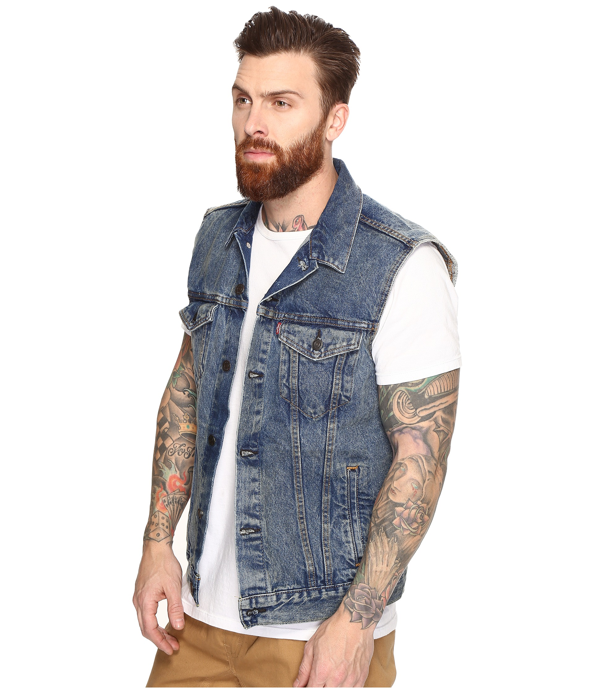 Levi's® men's jackets are a modern twist on classic styles. Find your style and shop for men's casual jean jackets, vests, truckers, and more outerwear at Levi's®. Skip to content Skip to navigation. Track Order; Levi's® WellThread™ x Outerknown Lined Trucker Jacket. $