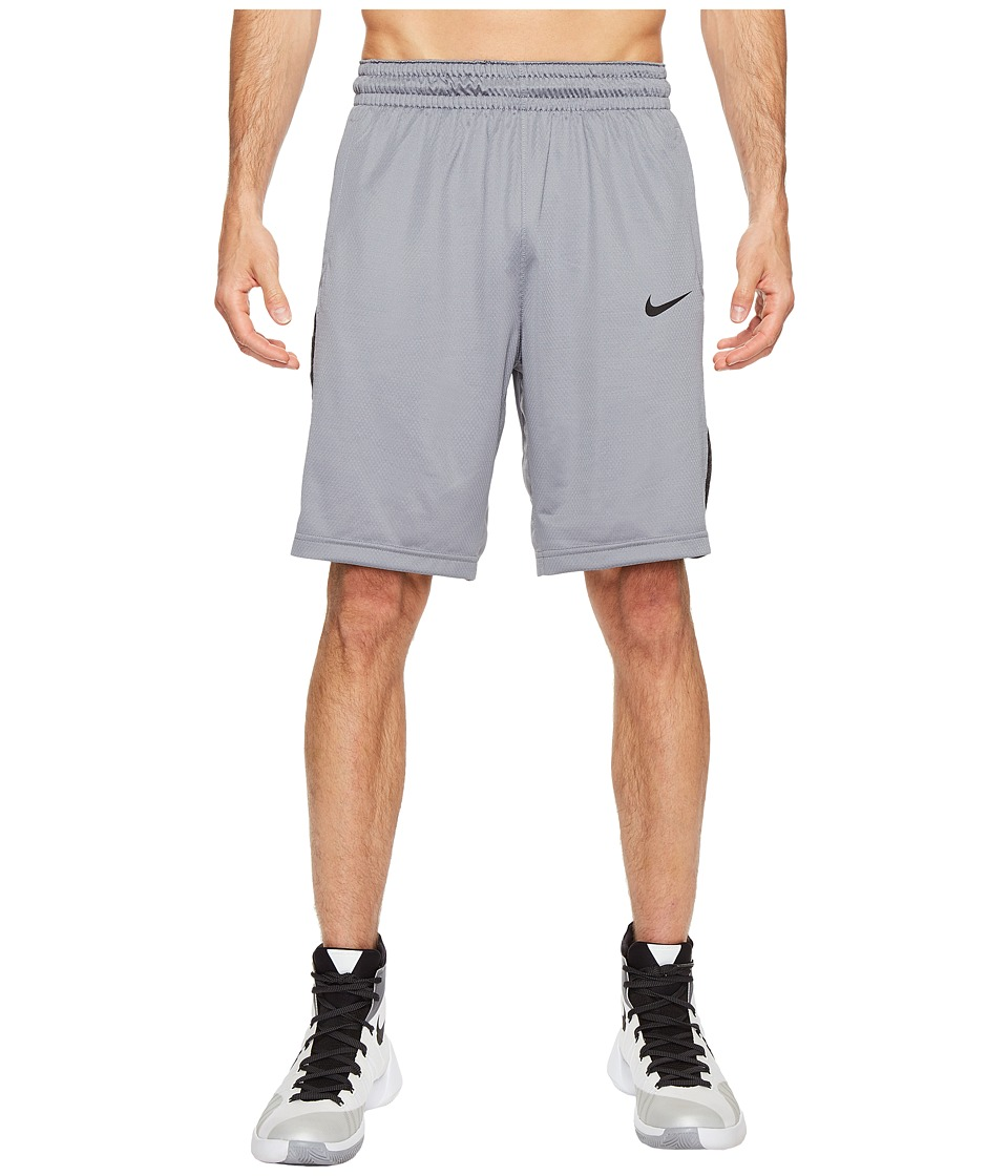 Nike 3-Point Basketball Short (Cool Grey/Cool Grey/Black/Black) Men