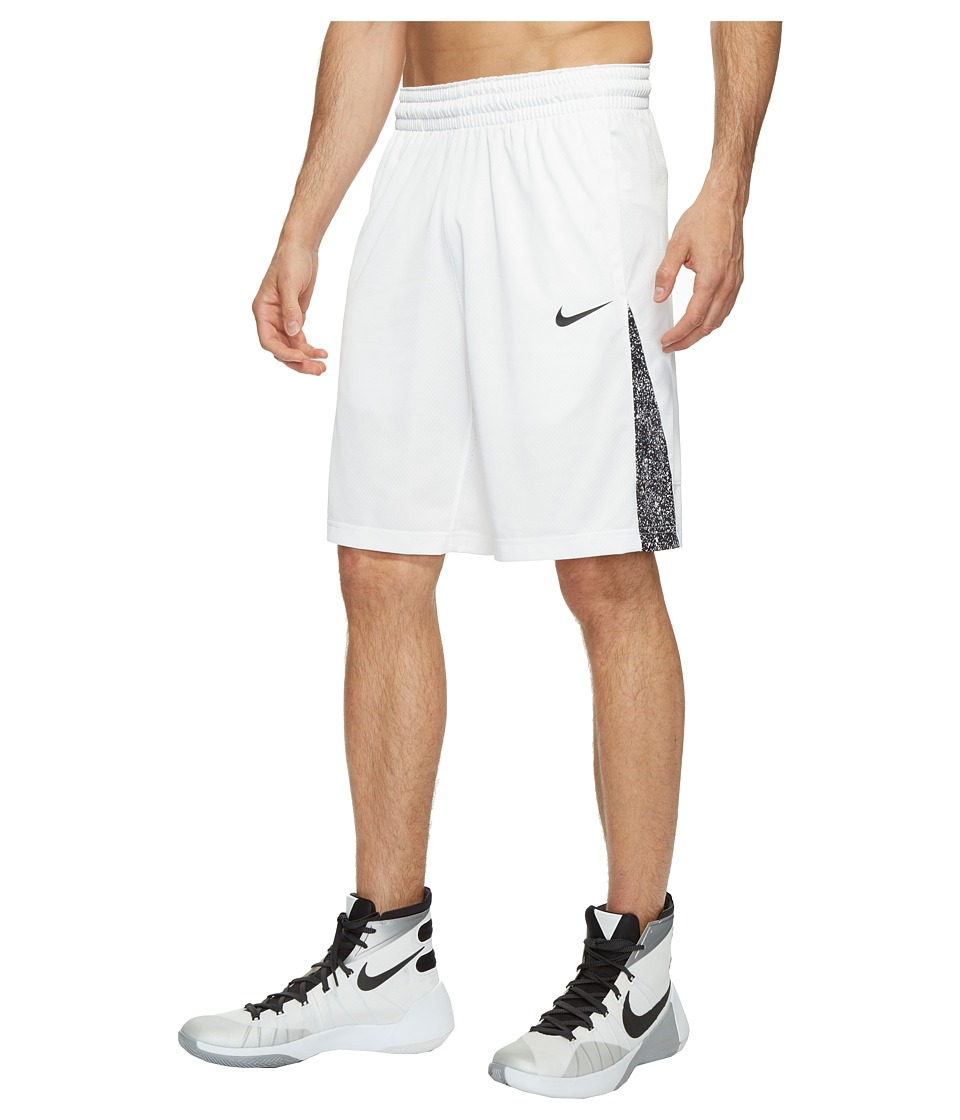 Nike 3-Point Basketball Short (White/White/Black/Black) Men