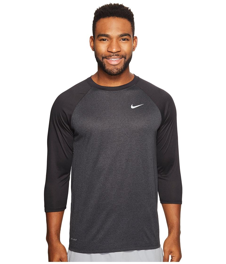 Nike Legend 3/4 Raglan Tee (Black/Anthracite/Black) Men