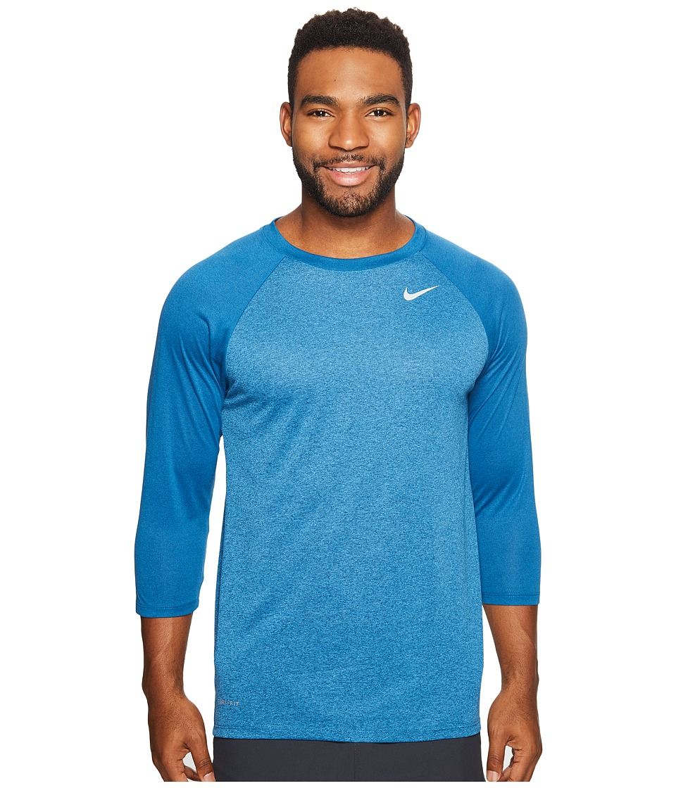 Nike Legend 3/4 Raglan Tee (Industrial Blue/Light Photo Blue) Men