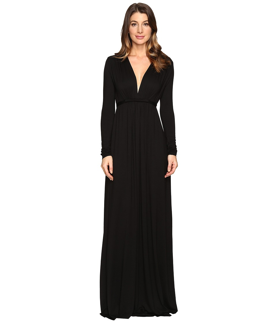 Rachel Pally Long Sleeve Full Length Caftan (Black) Women