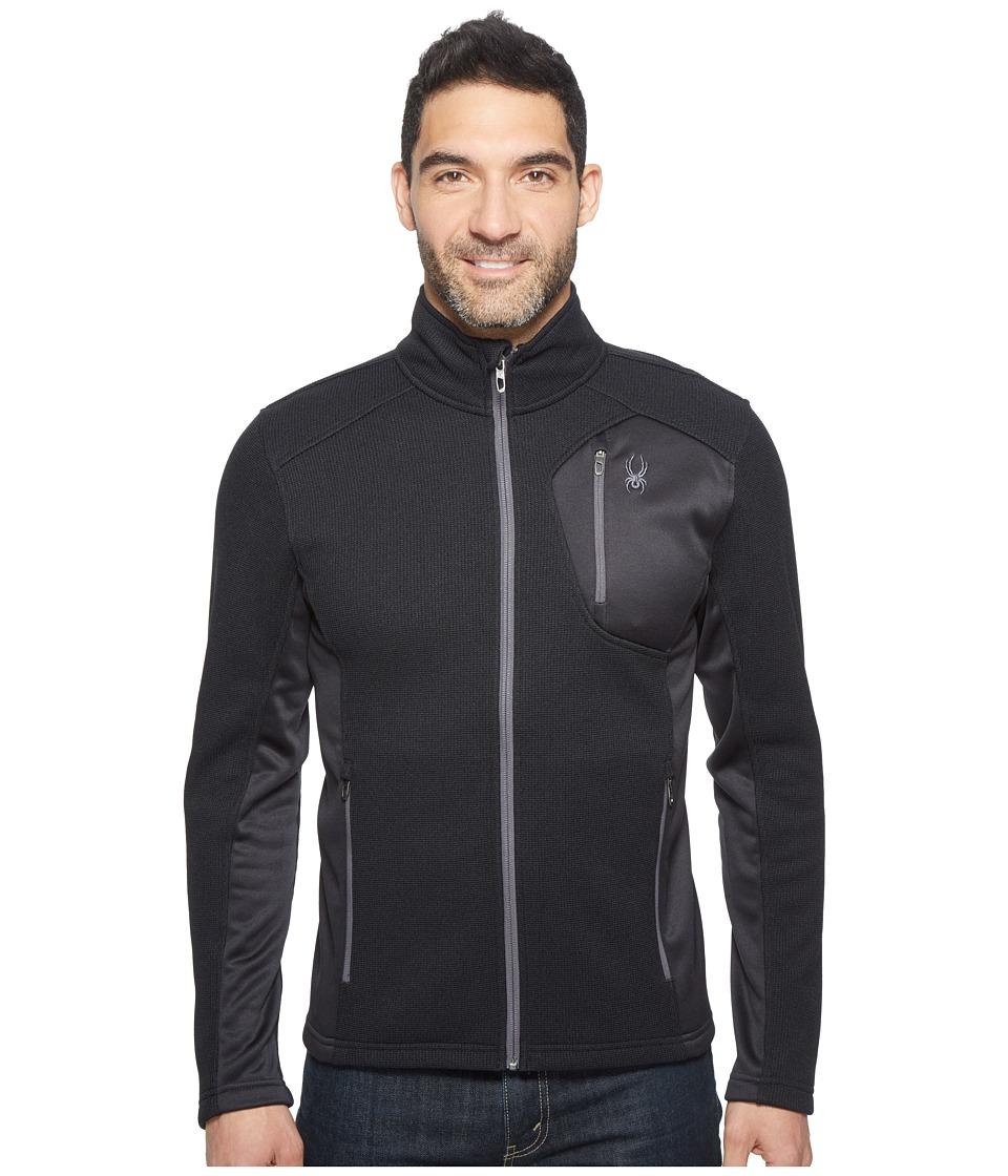 Spyder Bandit Full Zip Fleece Top (Black/Polar 1) Men's F...