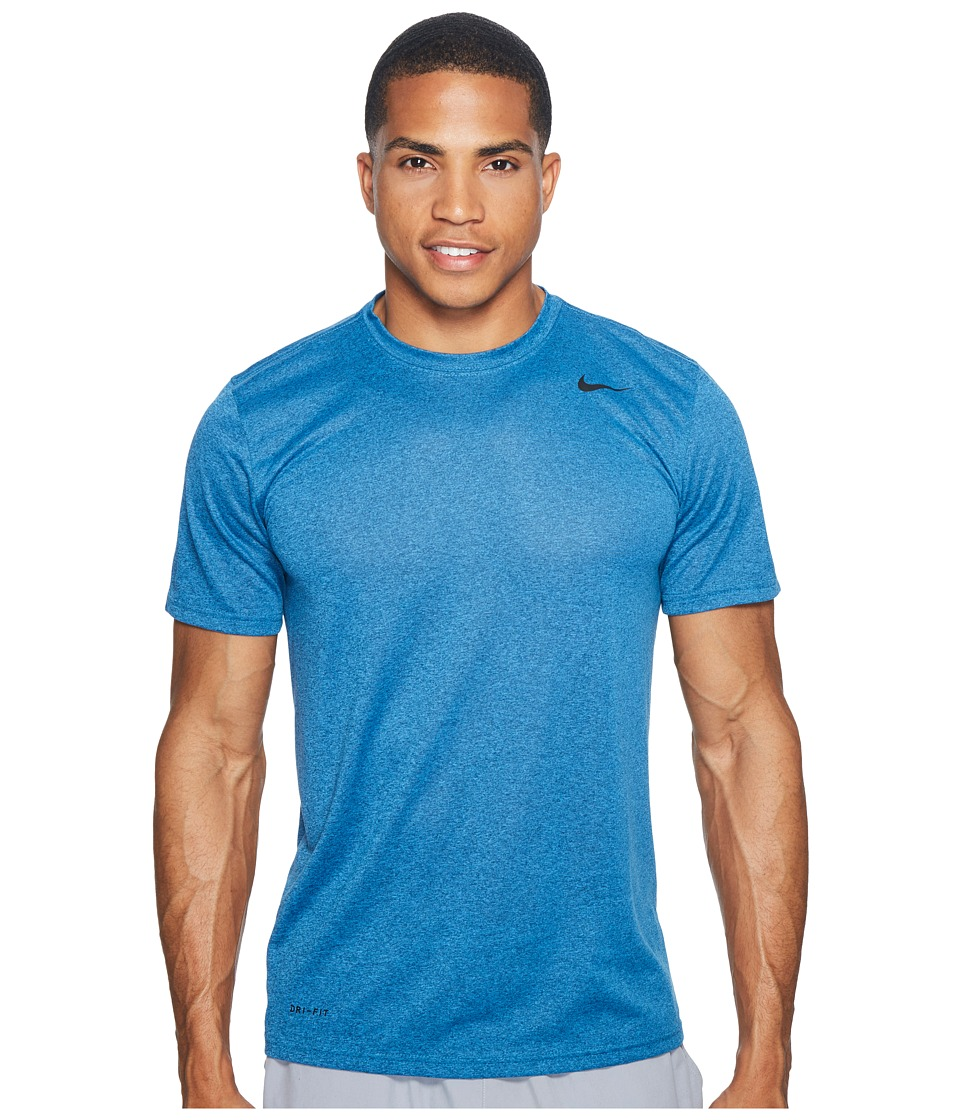 Nike Legend 2.0 Short Sleeve Tee (Industrial Blue/Light Photo Blue/Heather/Black) Men