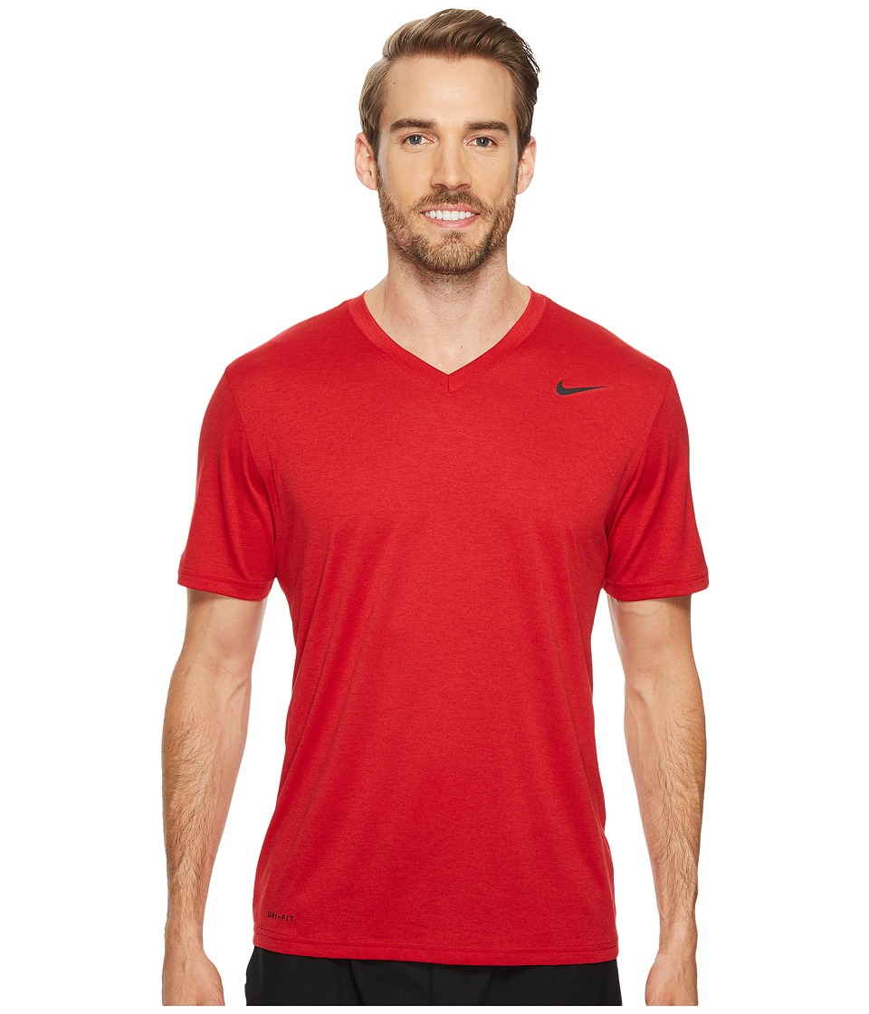 Nike Legend 2.0 Short Sleeve V-Neck Tee (Gym Red/Black/Black) Men