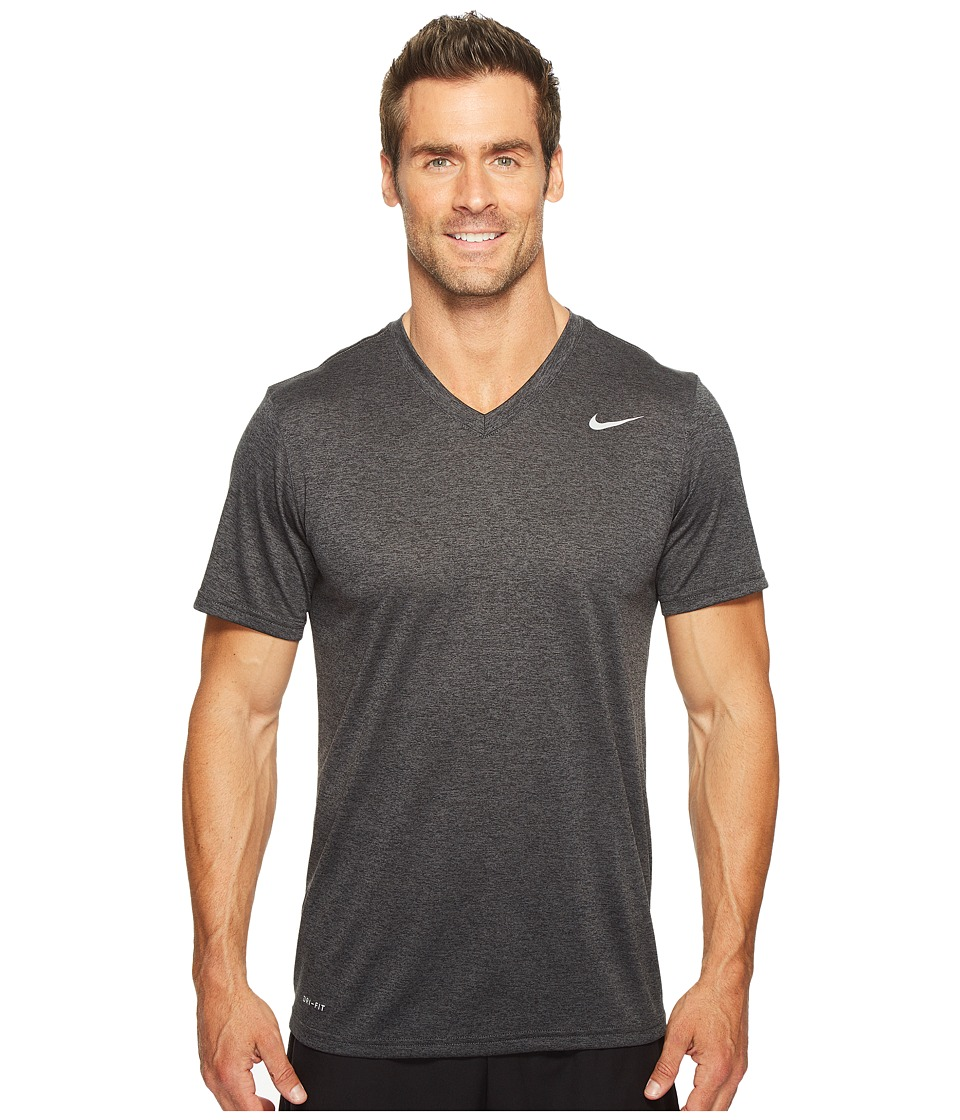 Nike Legend 2.0 Short Sleeve V-Neck Tee (Black/Anthracite/Heather/Matte Silver) Men
