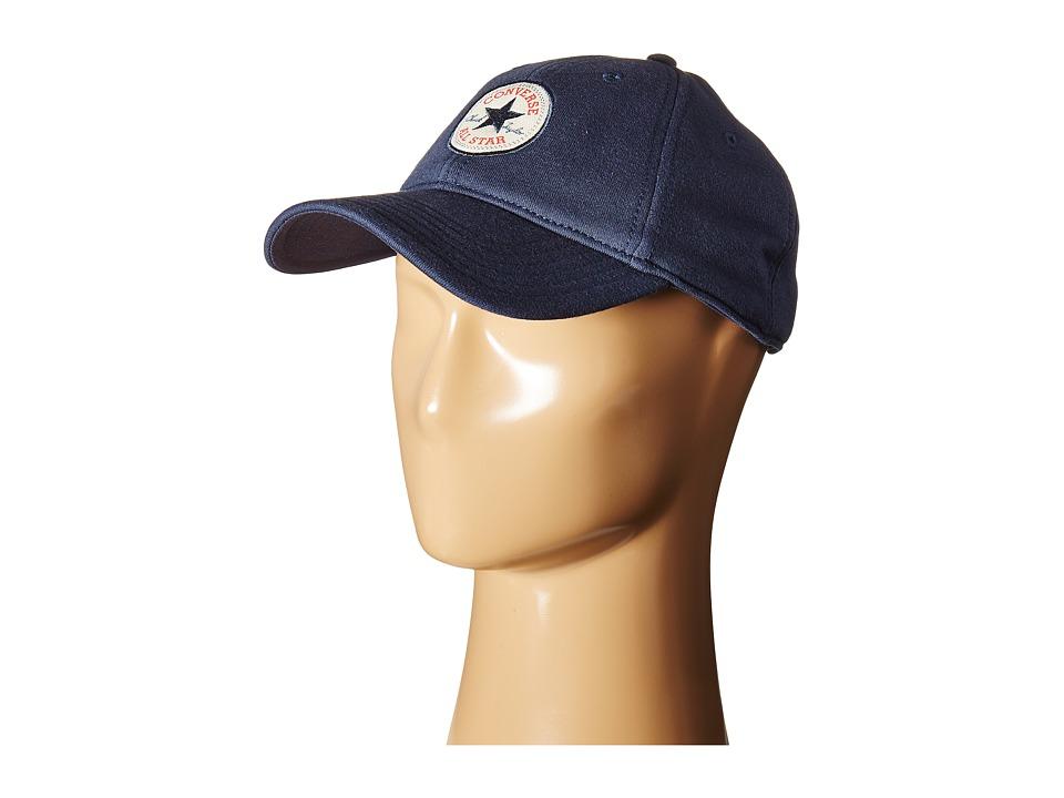 Converse - Fleece Core Precurved Baseball Cap (Converse Navy) Baseball Caps