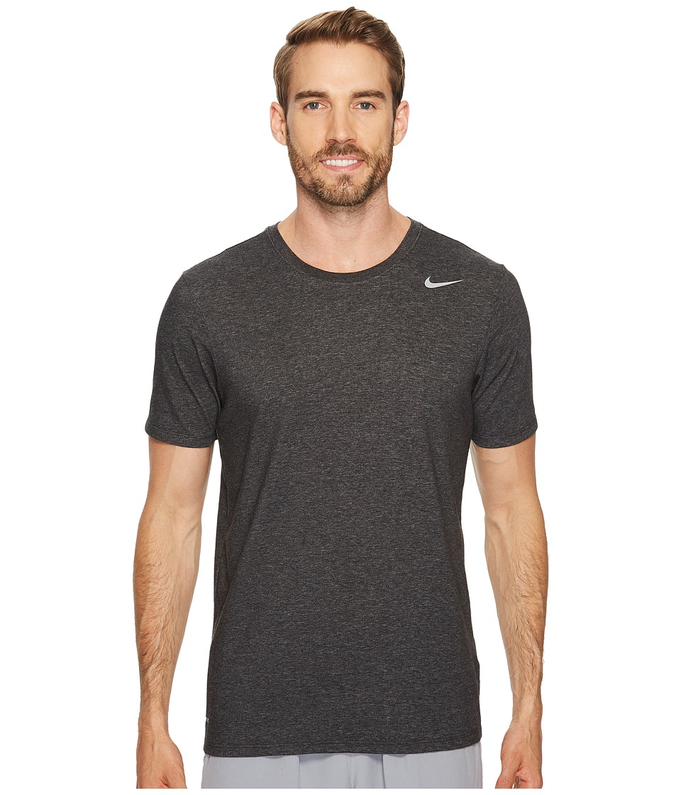 Nike Dri-FITtm Version 2.0 T-Shirt (Black Heather/Black Heather/Matte Silver) Men