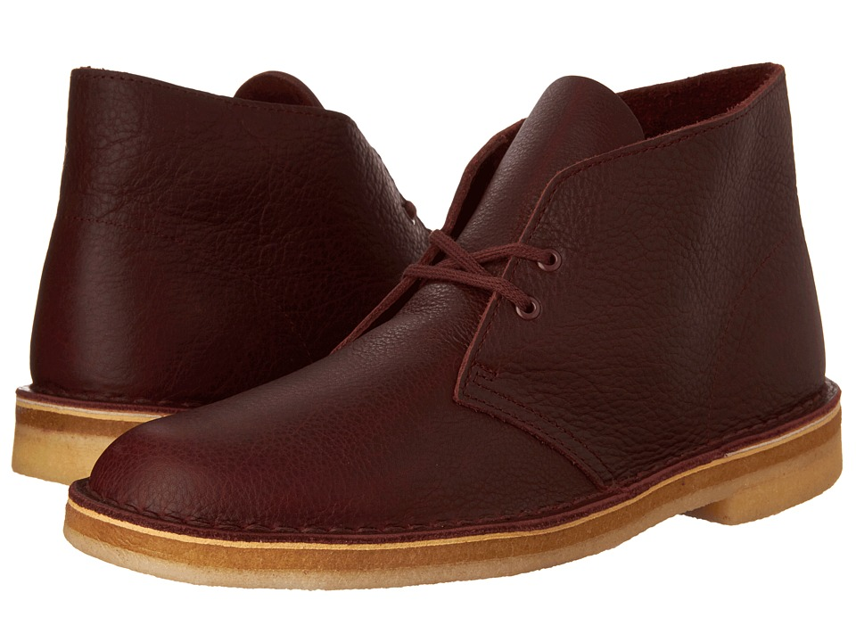 Clarks Desert Boot (Burgundy Tumbled Leather) Men