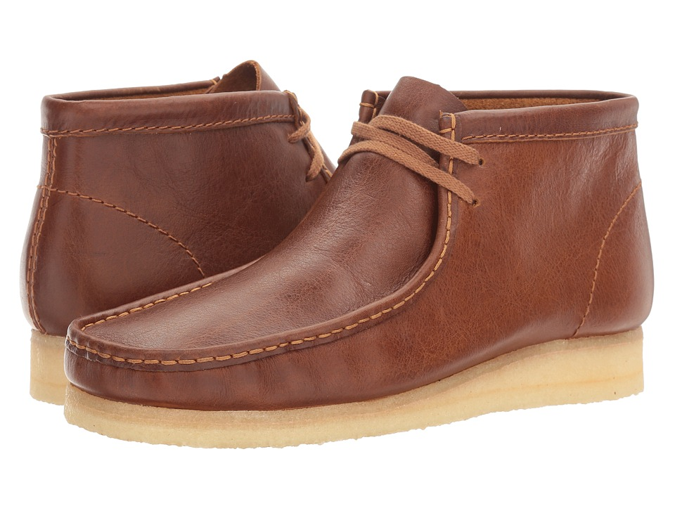 Clarks Wallabee Boot (Tan Tumbled Leather) Men