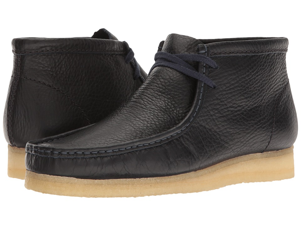 Clarks Wallabee Boot (Navy Tumbled Leather) Men