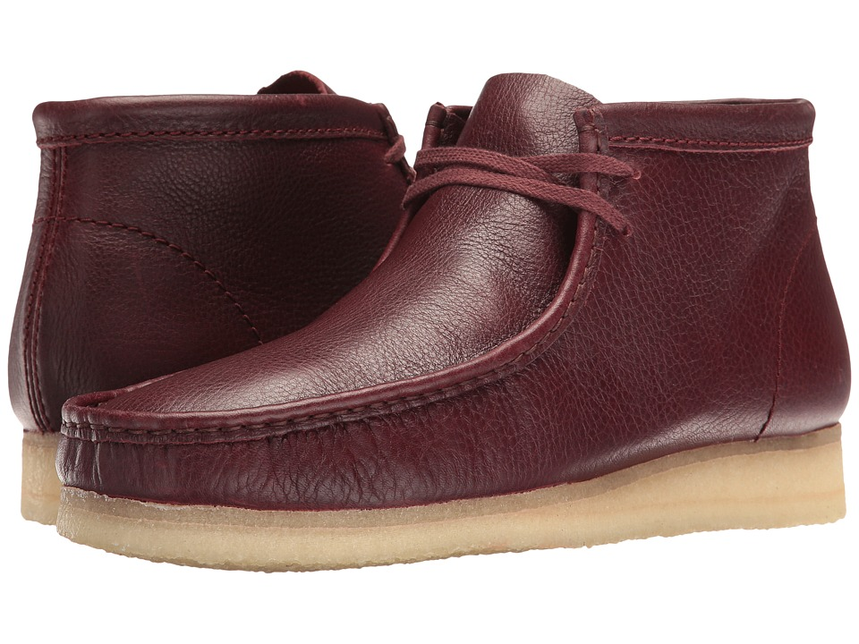 Clarks Wallabee Boot (Burgundy Tumbled Leather) Men