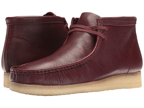 Clarks Wallabee Boot - Burgundy Tumbled Leather