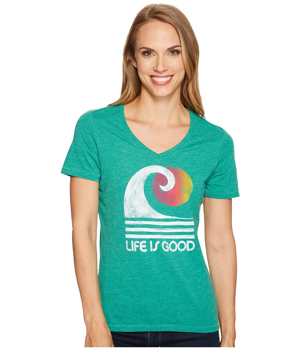 Life is Good Wave Cool Vee (Jungle Green) Women