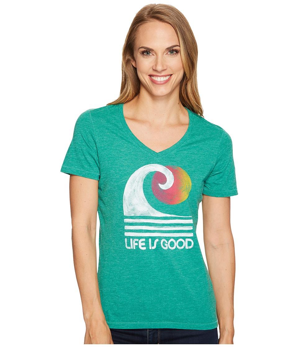 Life is Good Wave Cool Vee (Jungle Green) Women