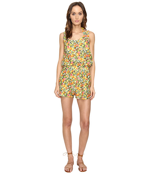 Stella McCartney Iconic Prints All-In-One Romper Cover-Up - Yellow Citrus Print