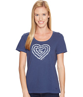 Life is Good - Heart Bike Crusher Scoop Neck Tee