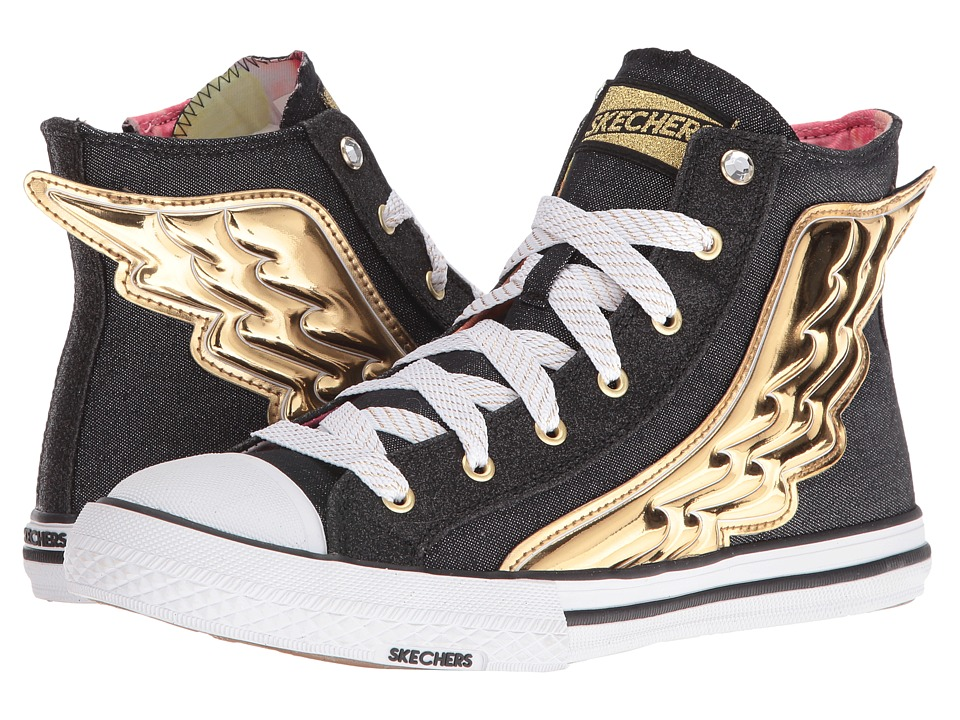 SKECHERS - Utopia - Wing It (Black/Gold) Womens Shoes