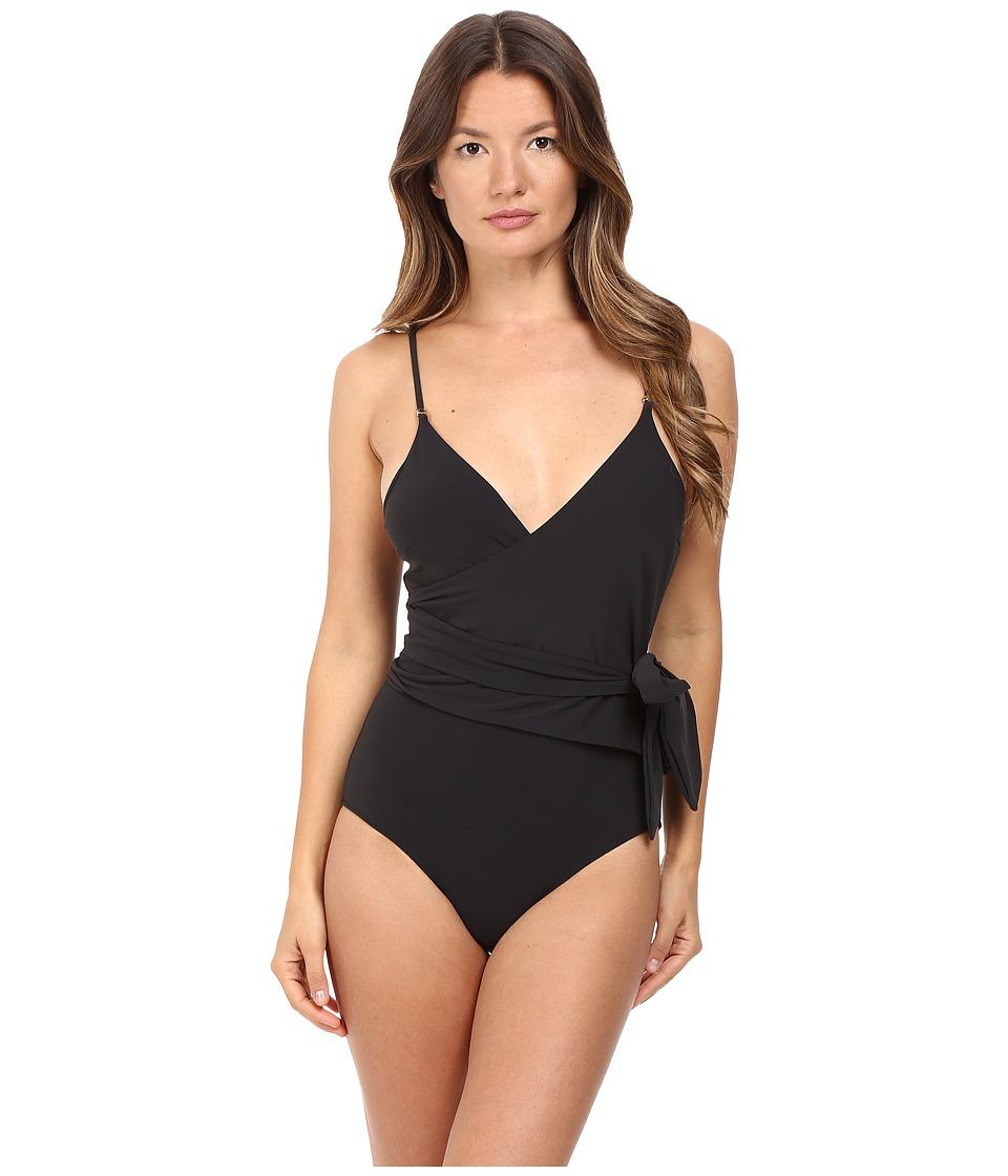 Stella McCartney - Timeless Basics One-Piece Wrap (Black) Womens Swimsuits One Piece