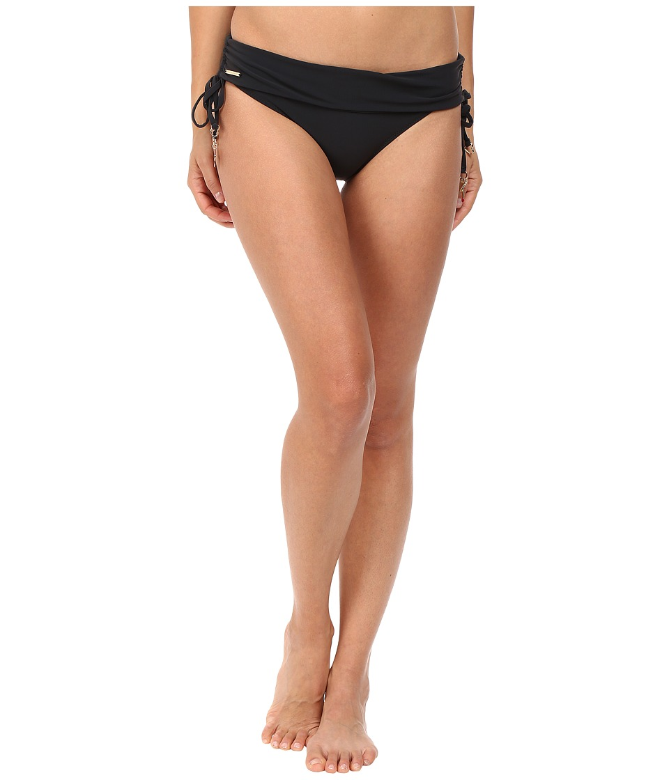 Stella McCartney - Timeless Basics Fold Down Bikini Bottom (Black) Womens Swimwear