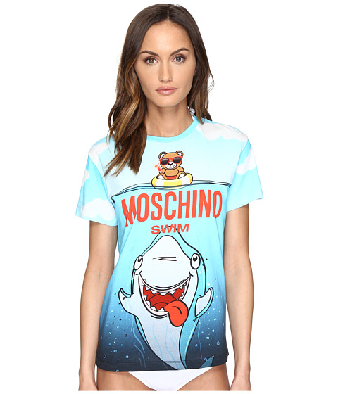 Moschino Shark T-Shirt Cover-Up