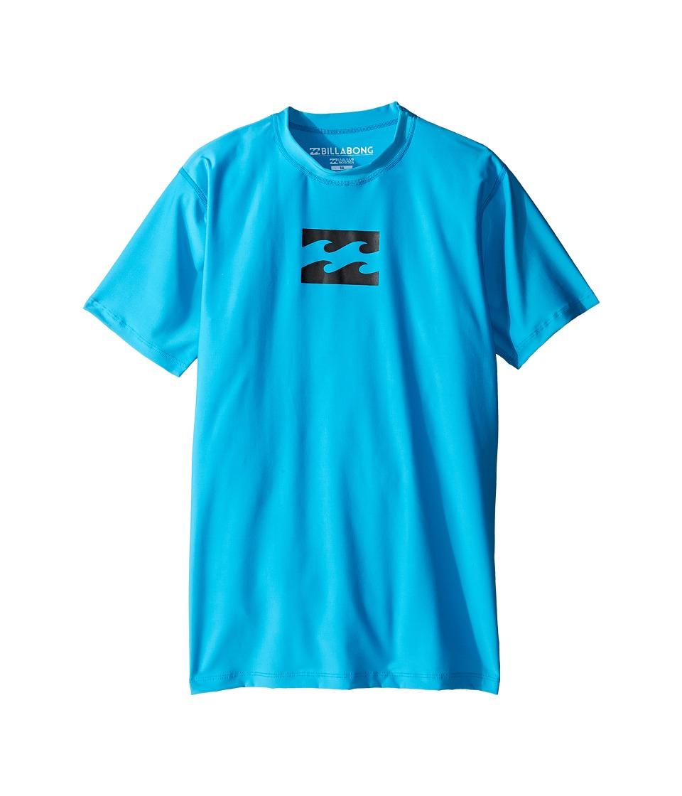 Billabong Kids All Day Wave Short Sleeve LF Wetshirt (Big Kids) (New Blue) Boy