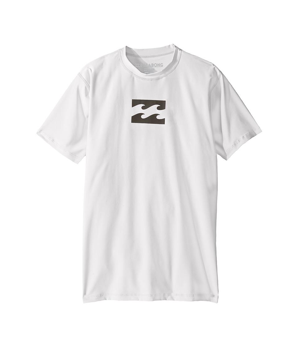 Billabong Kids All Day Wave Short Sleeve LF Wetshirt (Big Kids) (White) Boy